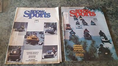 2 issues Snow Sports snowmobile magazine 1975 1976 Oct/Nov owners report