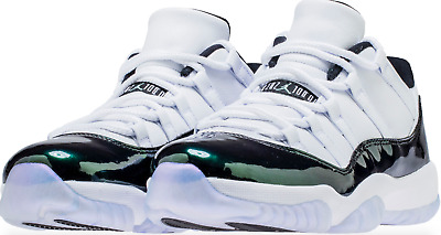 new style 3f262 87a15 NIKE AIR JORDAN XI Retro 11 Low Emerald Green Rise Easter 528895-145  AUTHENTIC