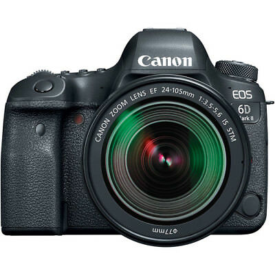 Canon EOS 6D Mark II Digital SLR Camera with EF 24-105mm f/3.5-5.6 IS STM Lens