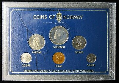 1978 Norway Mint Set 6 Coins BU Mint State