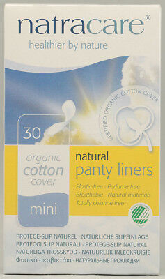 Natural Panty Liners Mini Breathable, Natracare, 30 piece