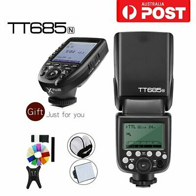 AU Godox TT685N 2.4G HSS TTL Camera Flash Speedlite+Xpro-N Trigger For Nikon Kit