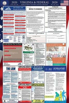 2019 Virginia and Federal Laminated Labor Law Poster PREORDER