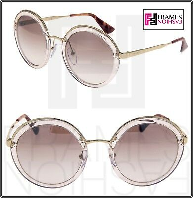 773ec63e5f461 PRADA CINEMA Round EVOLUTION Sunglasses 50T Transparent Crystal Brown PR50TS
