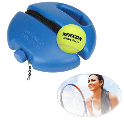 Hot Singles Tennis Ball Training Practice Balls Back Base Trainer Tools +Tennis