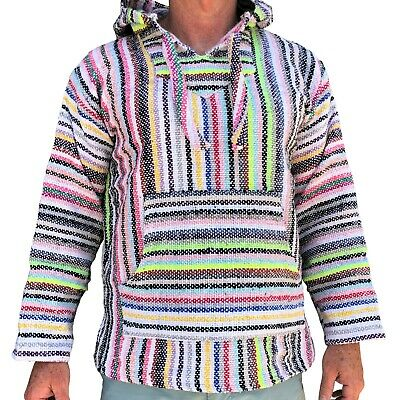 Original Mexican Baja Hoodie Surfer Fashion Made in Mexico - Choose size, colour