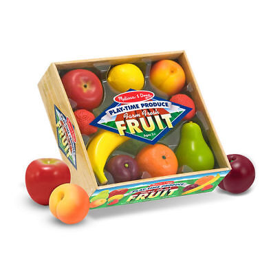 Brand New Melissa & Doug Play Time Produce Fruit Set Food Pretend Play Set Crate