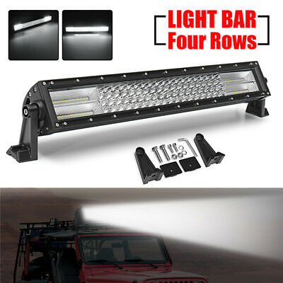 "22"" Inch LED Faros Luz de trabajo Bar Spot Flood Offroad Driving SUV ATV Truck"