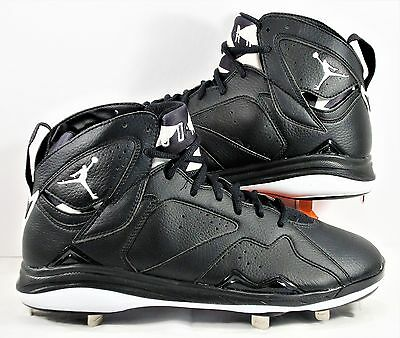 acd90e77dd1835 ... new zealand nike air jordan 7 vii retro black metal baseball cleats sz  11.5 new 684943
