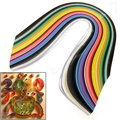 5mm Quilling Paper Strips Assorted 50 Colours DIY Craft 500pcs 540mm