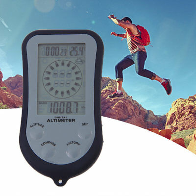 IPX 4 Waterproof LCD Digital Mini Portable Compass Altimeter Barometer ds