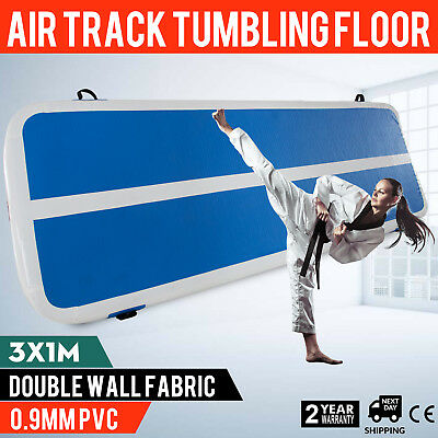 1*3M Air Track Home Floor Gymnastics Tumbling Mat Inflatable GYM Crash Mats