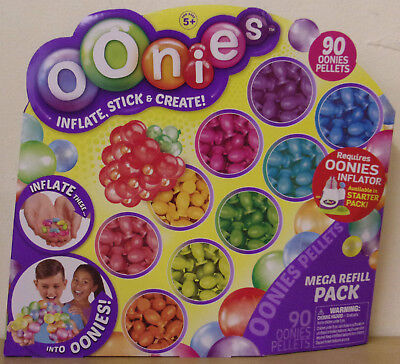 90 Pellets Inflatable Balloon Toys Mega Refill Pack Oonies Free Shipping!
