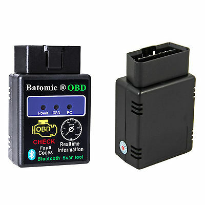 OBD2 Bluetooth OBD 2 Android Handy ELM327 KFZ Interface Diagnose Scanner Adapter