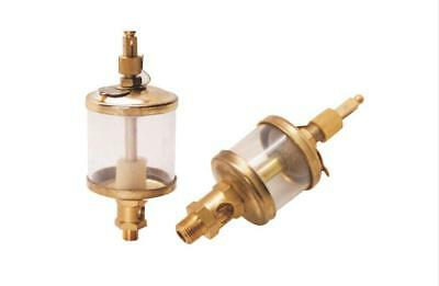 """3/8"""" PT Thread Needle Valve Type Oil Cup Sight Gravity Drip Feed Oilers 400ml Y"""