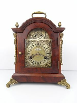 Dutch Vintage Antique Mantel Mantle Clock (Warmink Hermle Junghans era) Nutwood