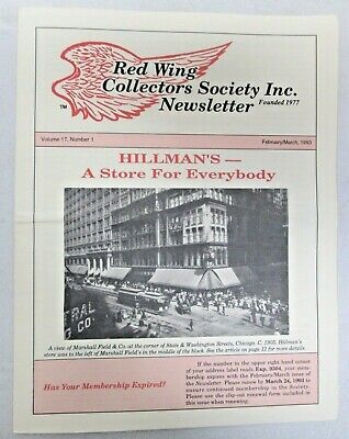 Red Wing Collectors Newsletter February March 1993 Hillman's Store USA