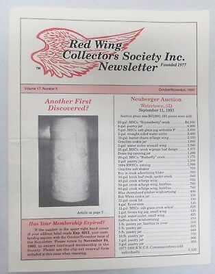 Red Wing Collectors Newsletter October November 1993 Rare Convention Displays
