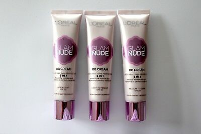 L'Oreal Glam Nude BB Cream Universal Skin Perfector 30ml - Please Choose Shade: