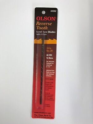 "Olson 5"" 130mm Plain Ended Reverse Scroll Saw Blades 12 Blades No.2    20tpi"