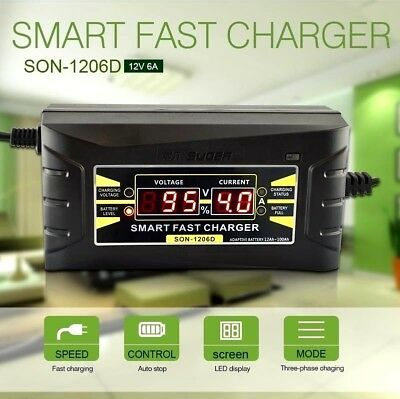 Automatic Smart Electronic Car Motorcycle Battery Fast Charger 6 AMP