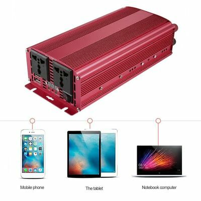 T8102 2500W/5000W Power Inverter Converter LCD Display For Car Home Use TD