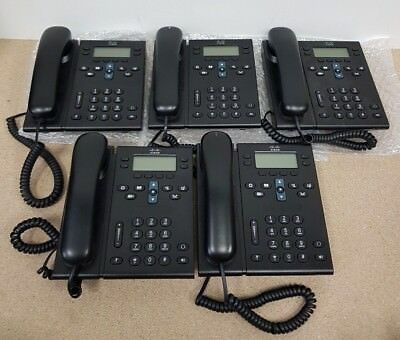 Job Lot of 5x Cisco CP-6941 IP Phone With Stand - Free P & P