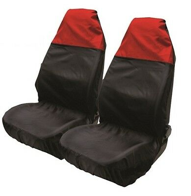 Premium Black & Red Top Car Seat Covers 1+1 For Porsche 911