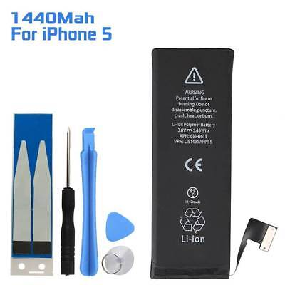 1440Mah Li-ion Battery Replacement Internal Flex Cable for iPhone 5 w/ Tools Kit