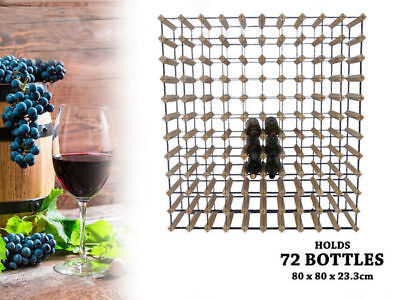 WA Stock 1  wooden wine rack holds 72 bottles natural wood colour
