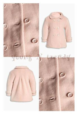 BNWT NEXT 12-18-24 months 2-3-4-5 y girl PINK FLEECE JACKET *COTTON LINING!