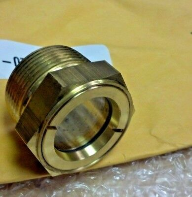Sight Glass, Easy-to-See, Clear Window, 1/2 NPT MALE, 7/8 HEX, Brass, 250 PSI