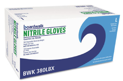 Boardwalk Disposable General-Purpose Nitrile Gloves Large Blue 1000/Carton