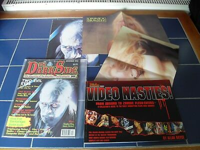 Darkside magazine issue 3 Video Nastie book and rare posters  Linnea Quigley!