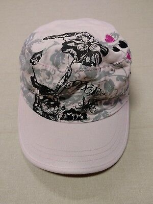 Girl's Kids LIL COOKIE Strapback Baseball Cap Hat Pink Hearts Floral Flowers EUC