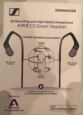 APOGEE Sennheiser Ambeo Smart Headset 3D Recording and High-fidelity Headphones