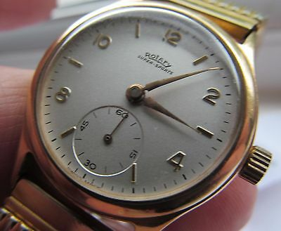 Vintage 9 ct gold Rotary super sports gents wrist watch