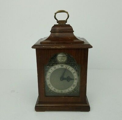 Antique Rotherhams Bracket Wooden Mantel Clock Time Piece Roman Numerals