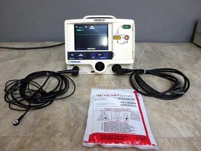 Physio Control Lifepak 20 Biphasic 3 Lead ECG Pacing Analyze Therapy Cable Pads