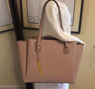 96daafea2a94 Cromia, Made in Italy, Saffiano Leather Tote in Blush Jewel Accents on Front