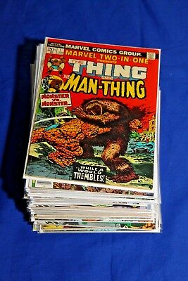 Huge Marvel Two-In-One lot of 48 Comics Thing #1 Thor Hulk Key Bronze Age