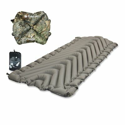 Klymit Static V Luxe Sleeping Travel Pad Gray w/ Pillow X King's Camo BRAND NEW