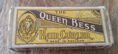 Antique hair curlers Queen Bess made in England new in box vintage collectible