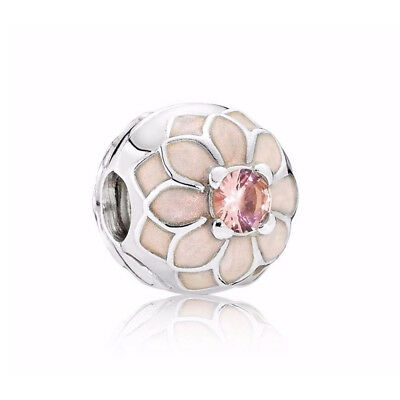 de87cf957 Authentic Silver Pandora Blooming Dahlia Charm Clip Flower Bead 791828NBP