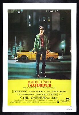 TAXI DRIVER ✯1976 CineMasterpieces ORIGINAL MOVIE POSTER ARE YOU TALKING TO ME ?