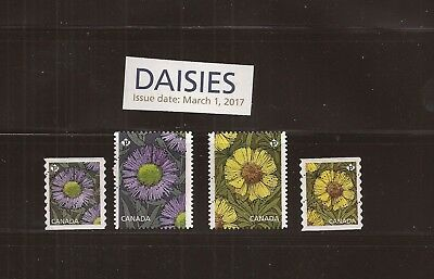 S17-05 Canada 2017 Canadian Daisies CPL set  #2977-80