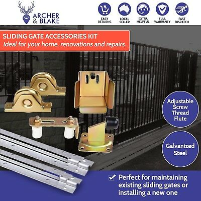 Complete Sliding Gate Hardware Package Track Wheels Auto Gate Opener