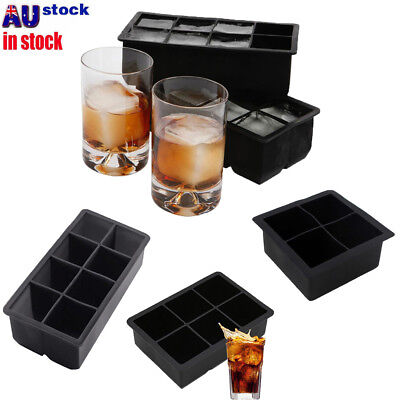 Big 4/6/8 Giant Jumbo Large Size Silicone Ice Cube Mold Square Tray Mould DIY MN