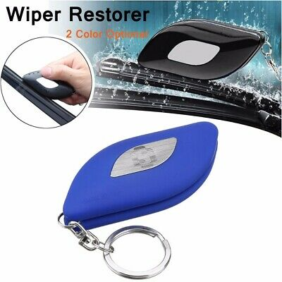 1pc Universal Car Windshield Wiper Blade Restorer Cleaner Repair Tool Blue