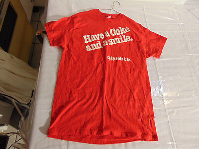 1979 Coca-Cola Have a Coke and a Smile Coke Adds Life Large 42-44 SS T Shirt